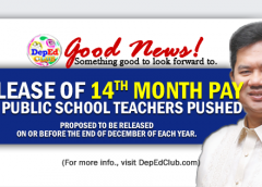 14th month pay for public school teachers