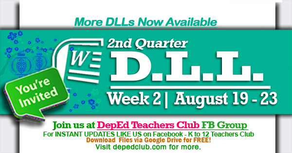 week 2 dll 2nd quarter