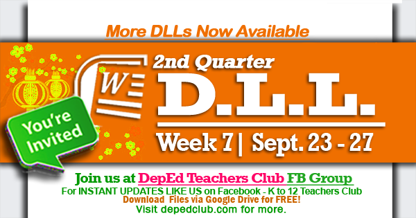 Week 7 dll 2nd quarter