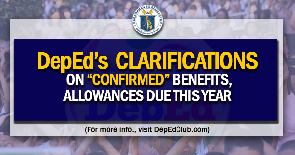 deped benefits allowances