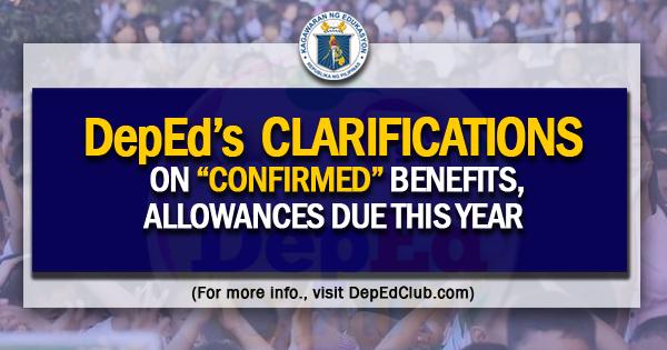 deped benefits allowances
