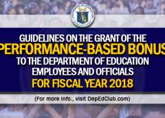 pbb for teachers for 2018