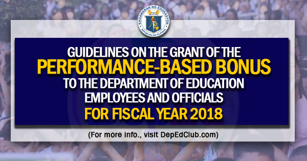 pbb for teachers for 2018