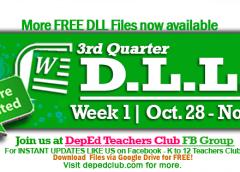 week 1 3rd quarter DLL