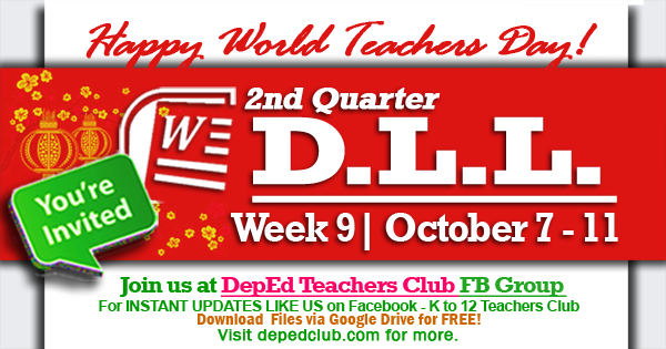 week 9 2nd quarter daily lesson log
