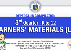 3rd quarter learning materials