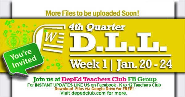 week 1 4th quarter dll