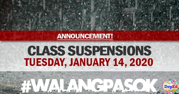 class suspensions for january 14 2019
