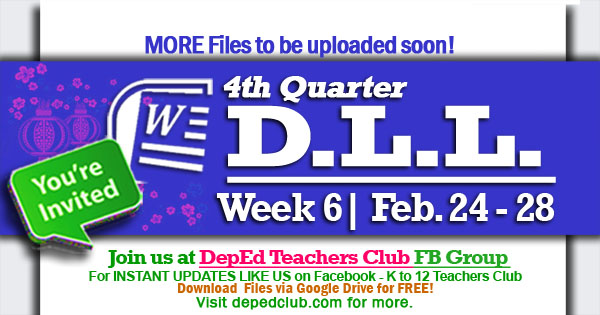 week 6 4th quarter dll