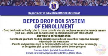DepEd Enrollment SY 2020 - 2021