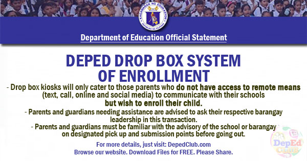 DepEd Enrollment SY 2020 - 2021