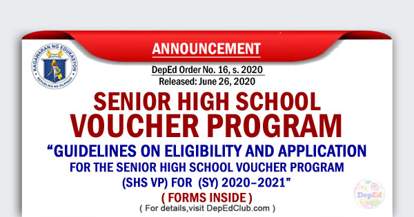 Guidelines on Eligibility and Application for the Senior High School Voucher Program